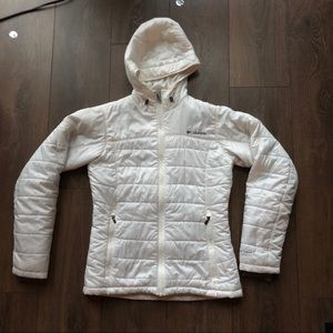 Columbia Women's White Down Hooded Jacket